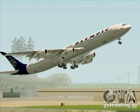Airbus A340-313 Olympic Airlines для GTA San Andreas колёса