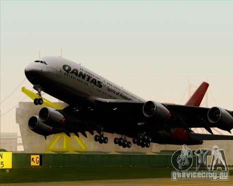 Airbus A380-841 Qantas для GTA San Andreas вид изнутри