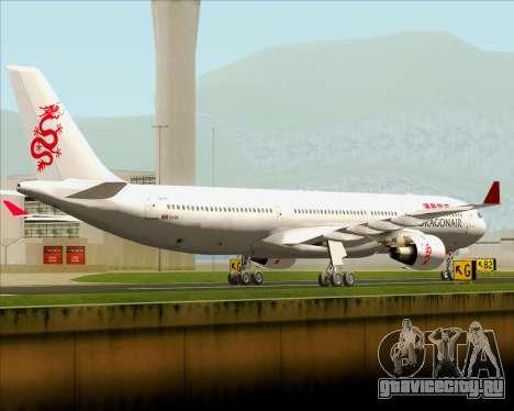 Airbus A330-300 Dragonair для GTA San Andreas вид справа