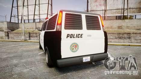 Declasse Burrito Police Transporter ROTORS [ELS] для GTA 4 вид сзади слева