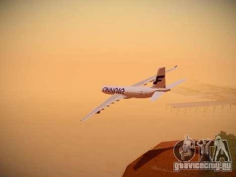 Airbus A340-300 Finnair для GTA San Andreas салон