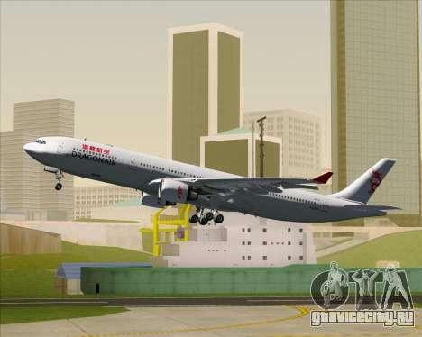 Airbus A330-300 Dragonair для GTA San Andreas колёса
