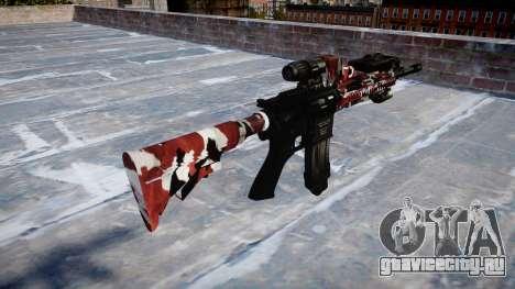 Автоматический карабин Colt M4A1 bloodshot для GTA 4 второй скриншот