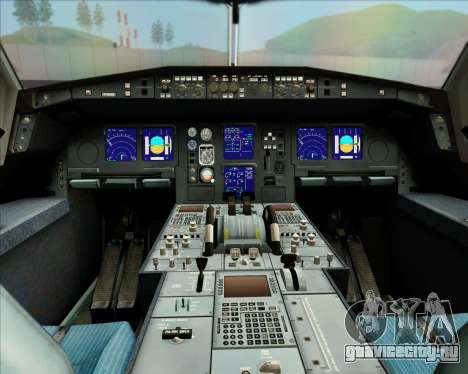 Airbus A340-313 LAN Airlines для GTA San Andreas вид снизу