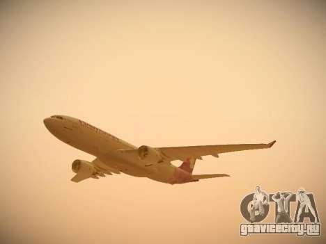Airbus A330-200 Hawaiian Airlines для GTA San Andreas салон