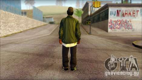 Eazy-E Green Skin v1 для GTA San Andreas второй скриншот