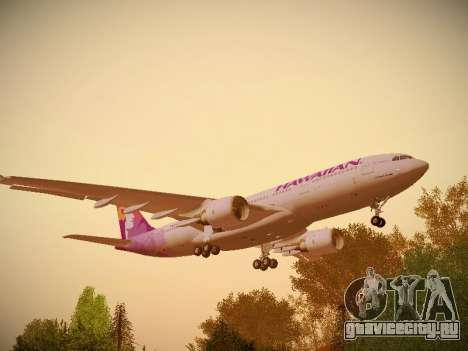 Airbus A330-200 Hawaiian Airlines для GTA San Andreas вид справа