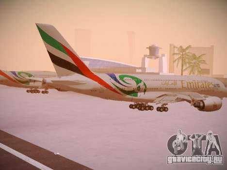 Airbus A380-800 Emirates Rugby World Cup для GTA San Andreas вид справа