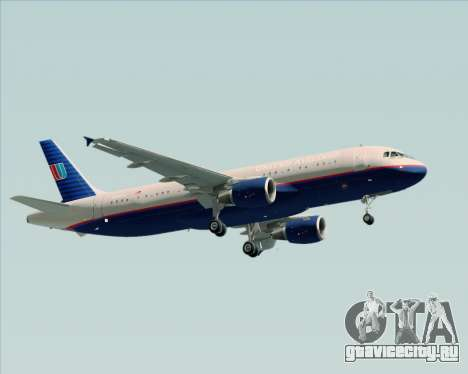 Airbus A320-232 United Airlines (Old Livery) для GTA San Andreas вид сбоку