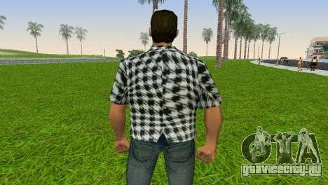 Kockas polo - fekete T-Shirt для GTA Vice City четвёртый скриншот