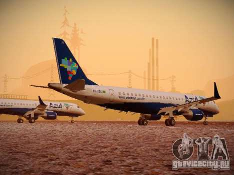 Embraer E190 Azul Brazilian Airlines для GTA San Andreas вид сзади