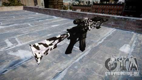 Автоматический карабин Colt M4A1 siberia для GTA 4 второй скриншот