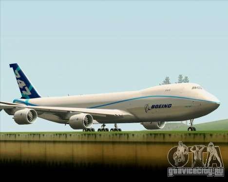 Boeing 747-8 Cargo House Livery для GTA San Andreas вид изнутри