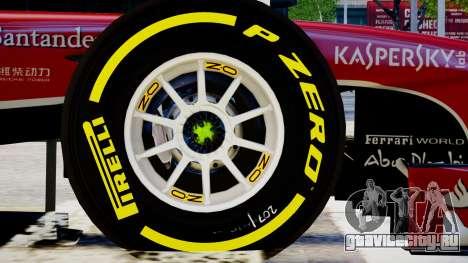 Ferrari F138 v2 для GTA 4 вид сзади