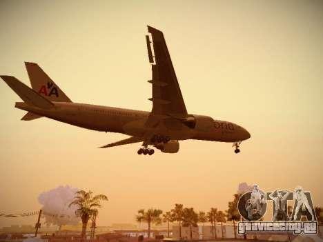 Boeing 777-223ER American Silver Bullet для GTA San Andreas вид сбоку