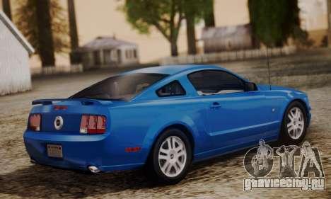 Ford Mustang GT 2005 v2.0 для GTA San Andreas вид слева