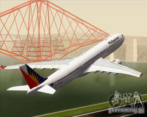 Airbus A330-300 Philippine Airlines для GTA San Andreas колёса