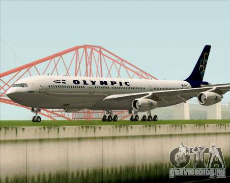 Airbus A340-313 Olympic Airlines для GTA San Andreas вид слева