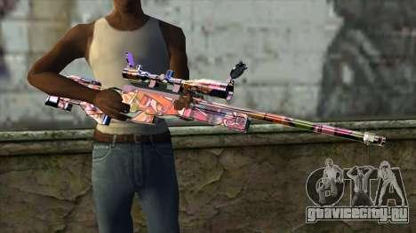 Graffiti Sniper Rifle для GTA San Andreas третий скриншот