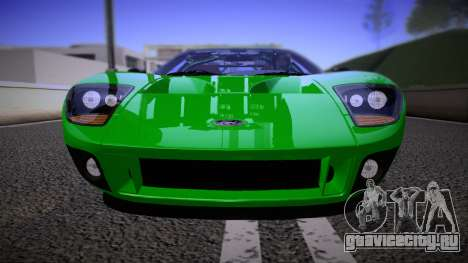Ford GT 2005 Road version для GTA San Andreas вид сзади