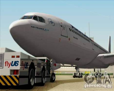 Airbus A340-313 Air France (New Livery) для GTA San Andreas вид сбоку