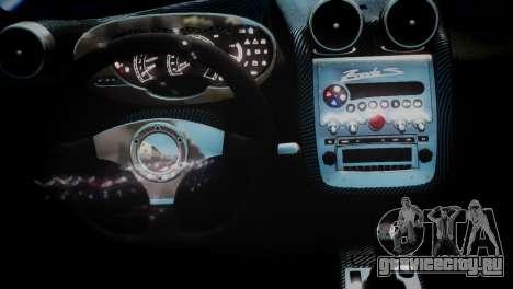 Pagani Zonda S (C12S) Roadster 2011 для GTA 4 вид справа