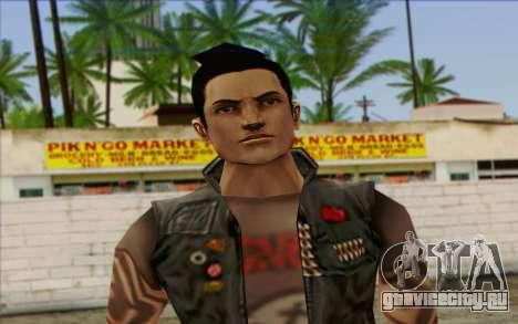 Claude in Pank Style для GTA San Andreas третий скриншот