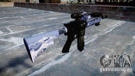 Автоматический карабин Colt M4A1 blue tiger для GTA 4 второй скриншот