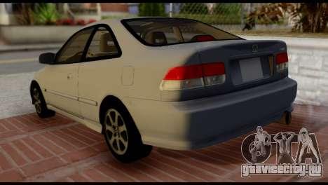 Honda Civic Si 1999 для GTA San Andreas вид слева
