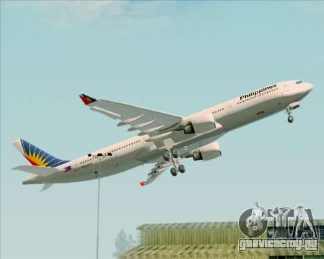 Airbus A330-300 Philippine Airlines для GTA San Andreas вид сверху