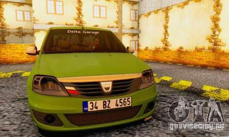Dacia Logan Delta Garage для GTA San Andreas вид сзади