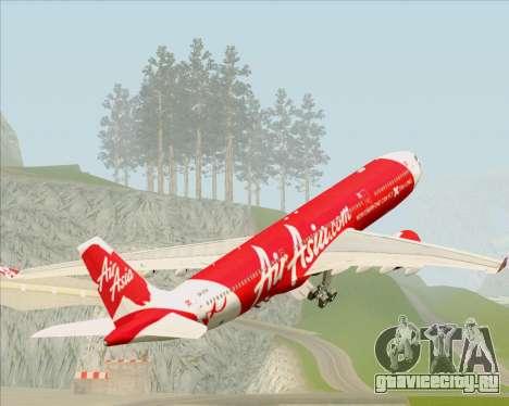 Airbus A330-300 Air Asia X для GTA San Andreas колёса