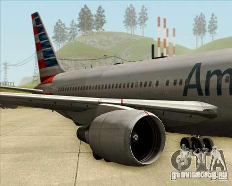 Boeing 767-323ER American Airlines для GTA San Andreas вид изнутри