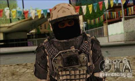 Task Force 141 (CoD: MW 2) Skin 15 для GTA San Andreas третий скриншот