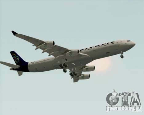 Airbus A340-313 Olympic Airlines для GTA San Andreas вид изнутри