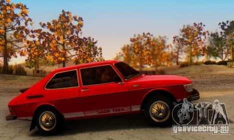 Saab 99 Turbo 1978 для GTA San Andreas вид сзади