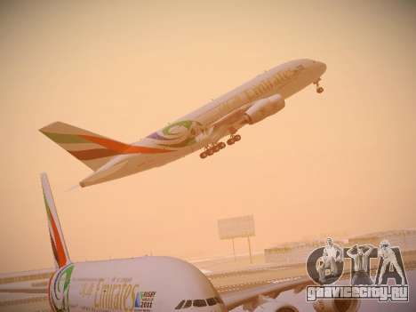 Airbus A380-800 Emirates Rugby World Cup для GTA San Andreas салон