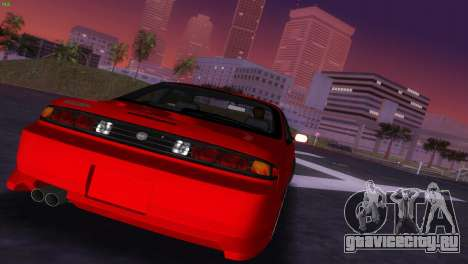 Nissan Silvia S14 RB26DETT Black Revel для GTA Vice City вид сбоку