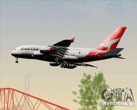 Airbus A380-841 Qantas для GTA San Andreas вид снизу