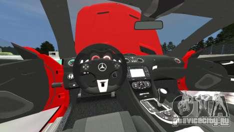 Mercedes Benz SL65 AMG Black Series для GTA 4 вид изнутри