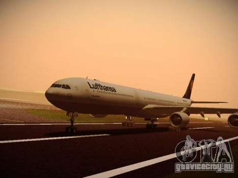 Airbus A340-600 Lufthansa для GTA San Andreas вид справа