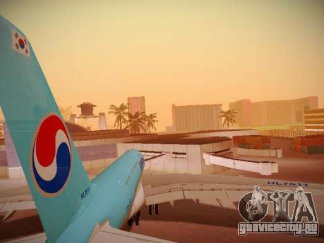 Airbus A380-800 Korean Air для GTA San Andreas двигатель