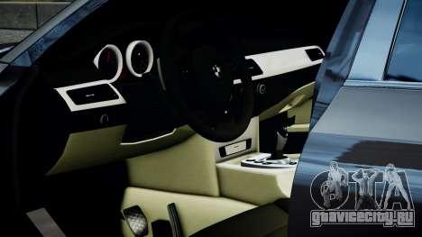 BMW M5 E60 v1 для GTA 4 вид сзади слева