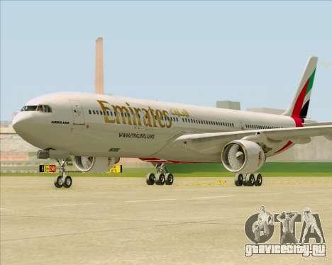 Airbus A330-300 Emirates для GTA San Andreas вид сзади слева
