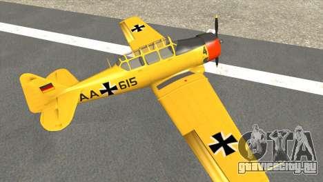 North American T-6 TEXAN AA615 для GTA San Andreas вид сзади слева