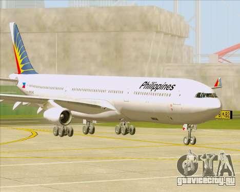 Airbus A340-313 Philippine Airlines для GTA San Andreas вид слева