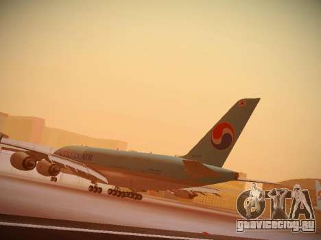 Airbus A380-800 Korean Air для GTA San Andreas вид сбоку