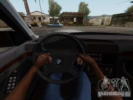 BMW 760i E38 для GTA San Andreas вид сзади