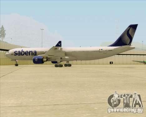 Airbus A330-300 Sabena для GTA San Andreas вид снизу