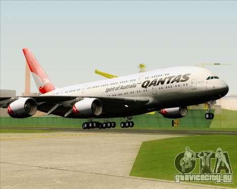 Airbus A380-841 Qantas для GTA San Andreas вид сзади